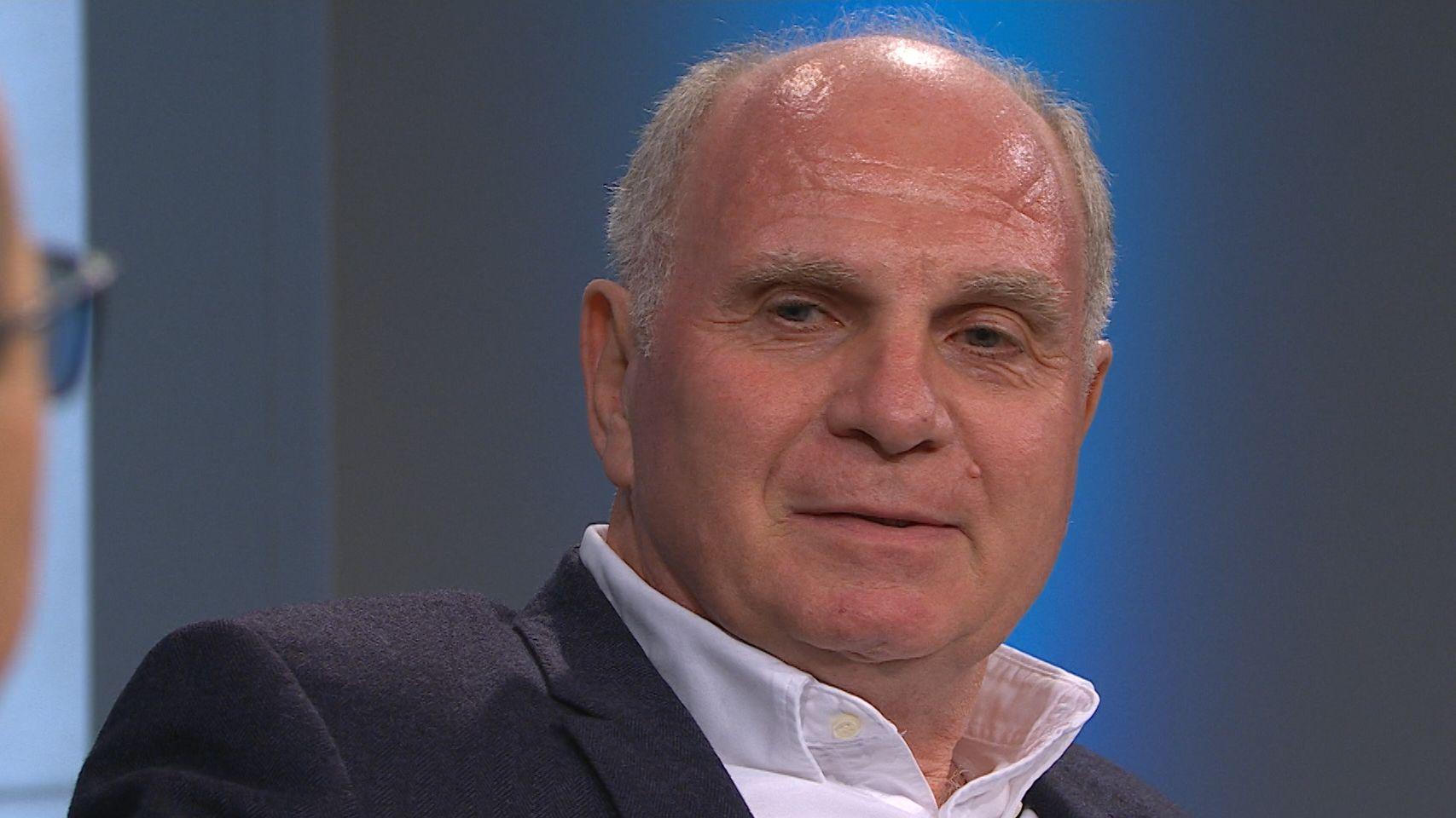 Uli Hoeneß ist froh über die Fortsetzung der Fußball-Bundesliga