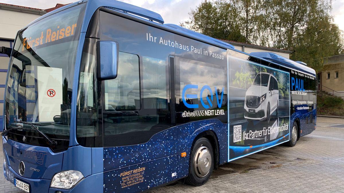 Der Niederflur-Hybridbus in Hutthurm
