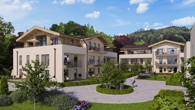 Bildsimulation zur geplanten Bebauung in Berchtesgaden.