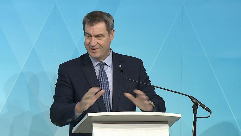 Ministerpräsident Söder | Bild:Bayerischer Rundfunk 2020