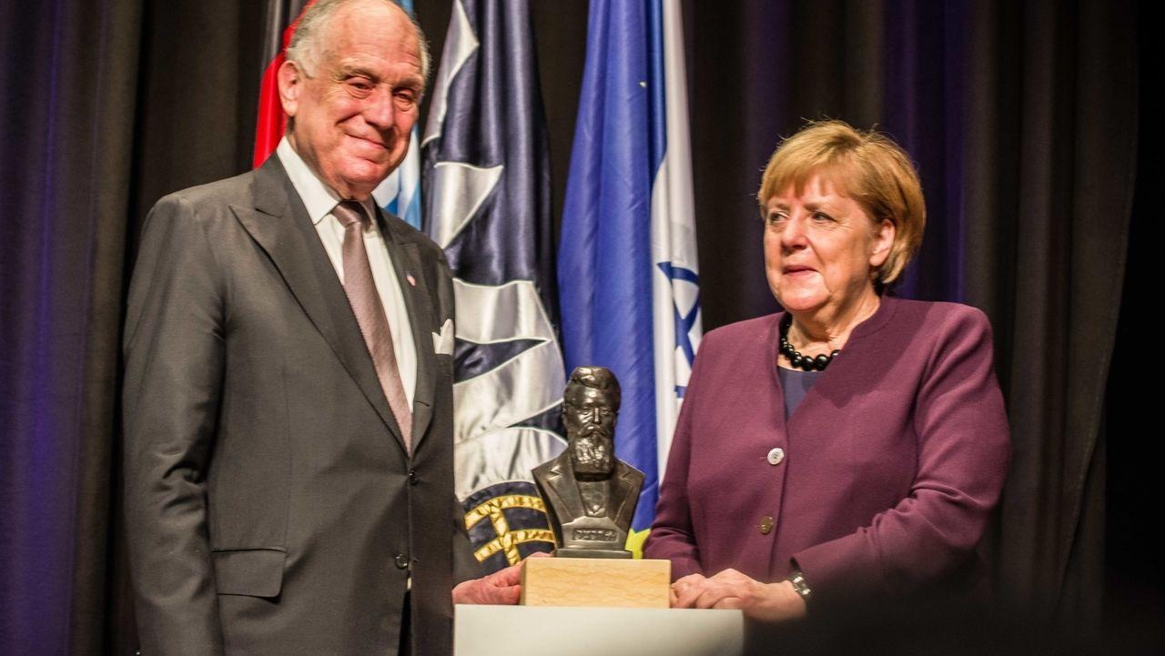 Theodor-Herzl-Preis für Angela Merkel