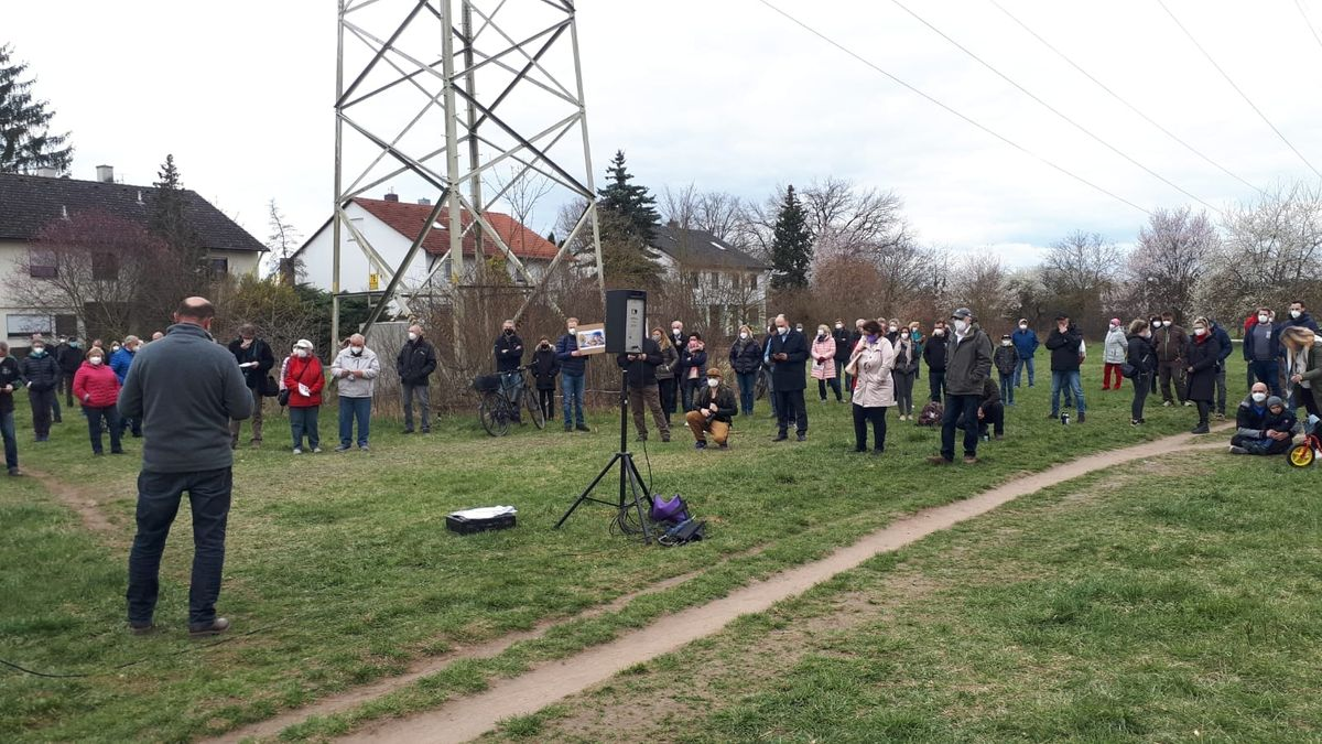 Demonstration in Katzwang.