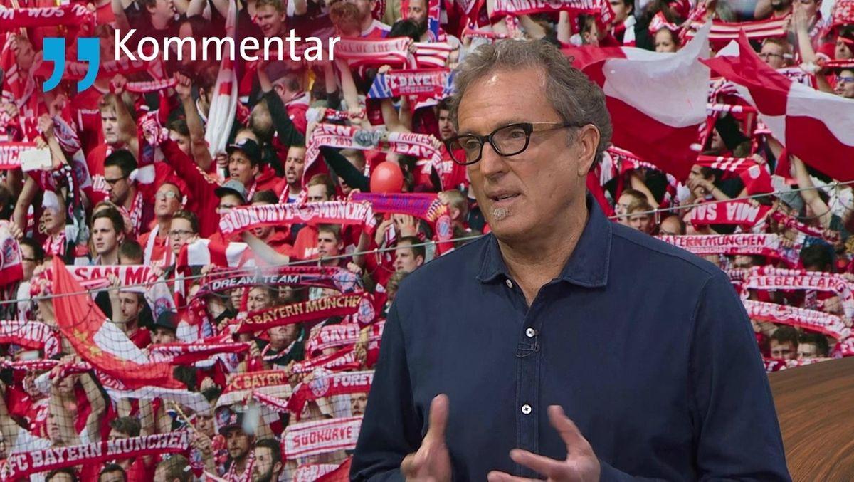 BR-Sportreporter Thomas Klinger vor Stadionkulisse
