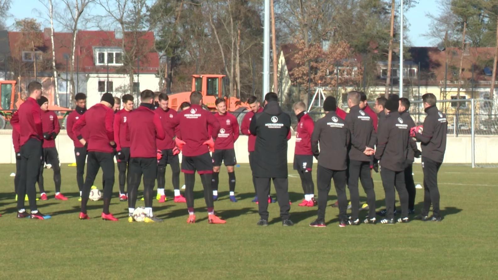 Erstes Training beim 1. FC Nürnberg