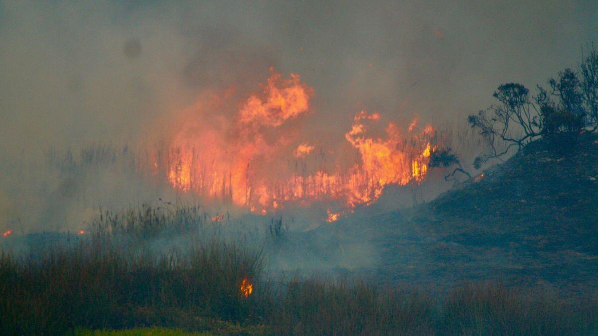 Großbrand bei Santa Cruz
