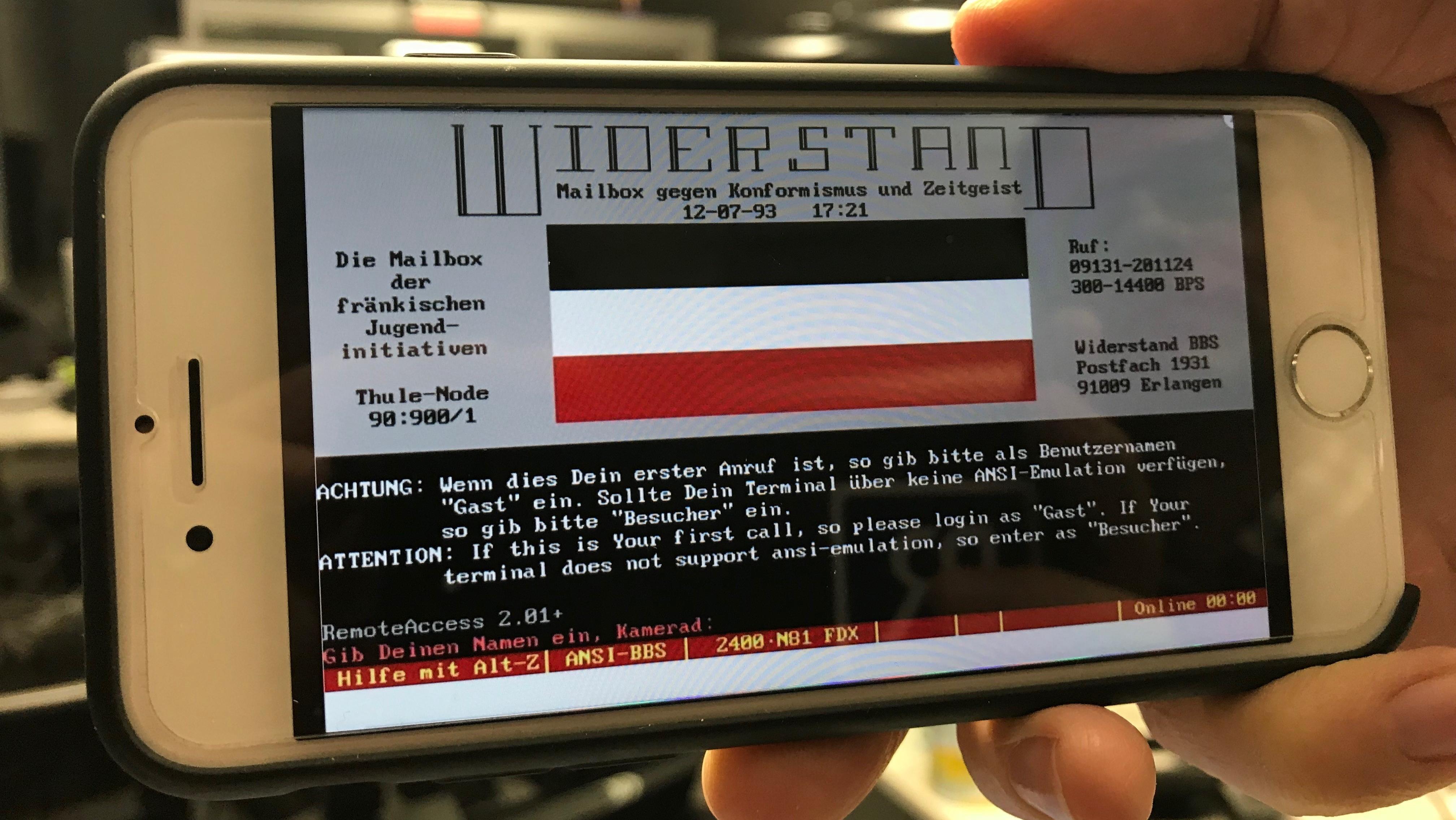 Vor der Zeit des Internets: Geheime elektronische Plattform von Neonazis
