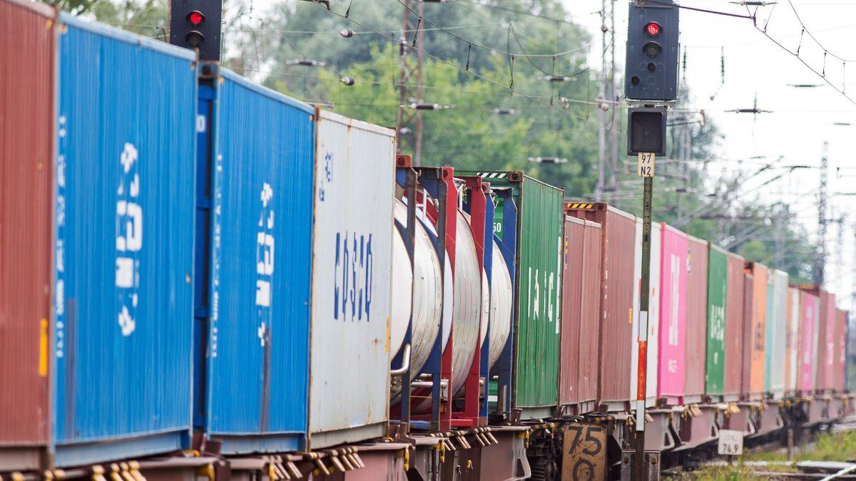 Ein Güterzug (Symbolfoto)
