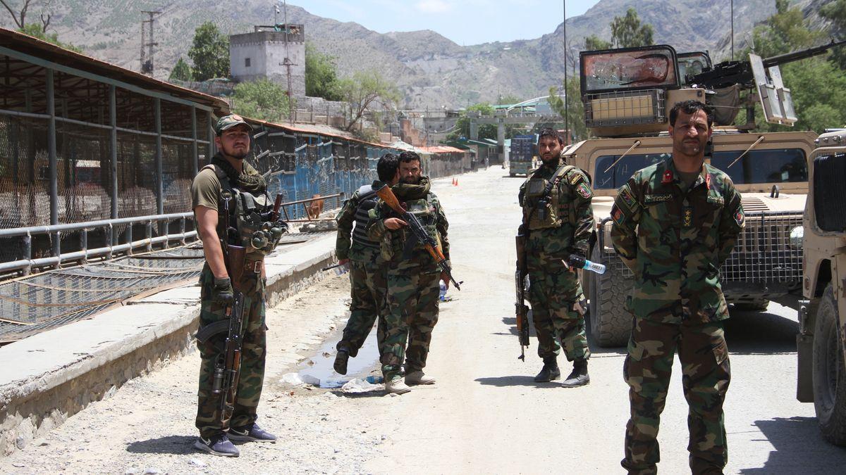 23.7.2021: Afghanische Sicherheitskräfte in Nangarhar