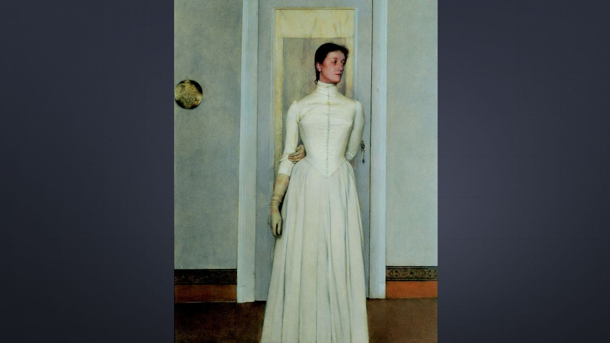 Fernand Khnopff, Porträt von Marguerite Khnopff, 1887