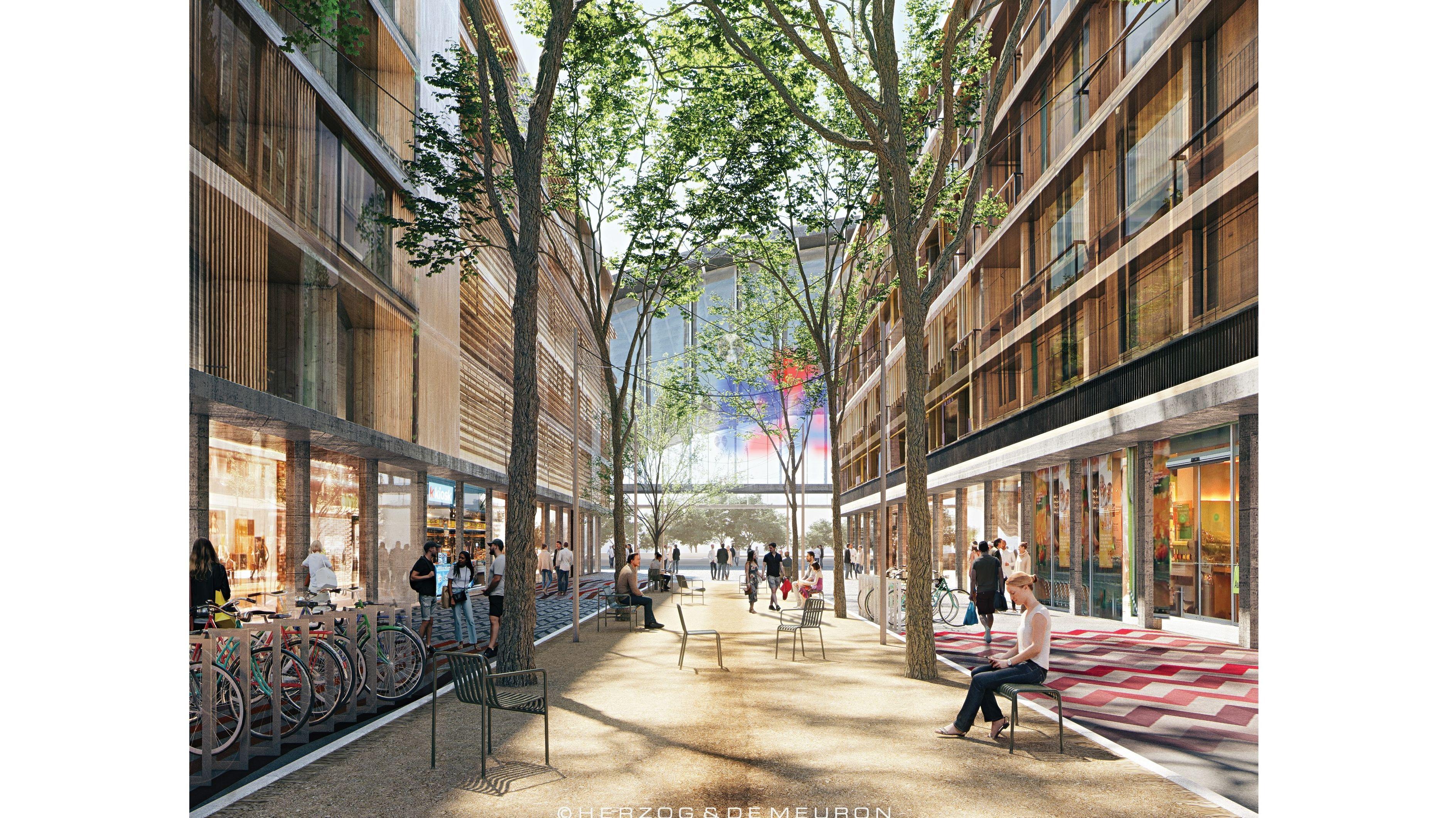 Paket-Posthalle Gasse: Urbaner Mix aus Wohnungen, Gewerbenutzungen, Bildungs- und sozialen Einrichtungen