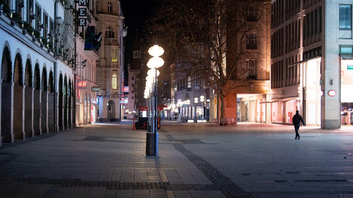 Leere Fußgängerzone