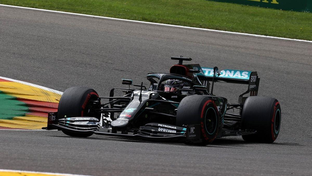 Lewis Hamilton auf dem Kurs in Spa