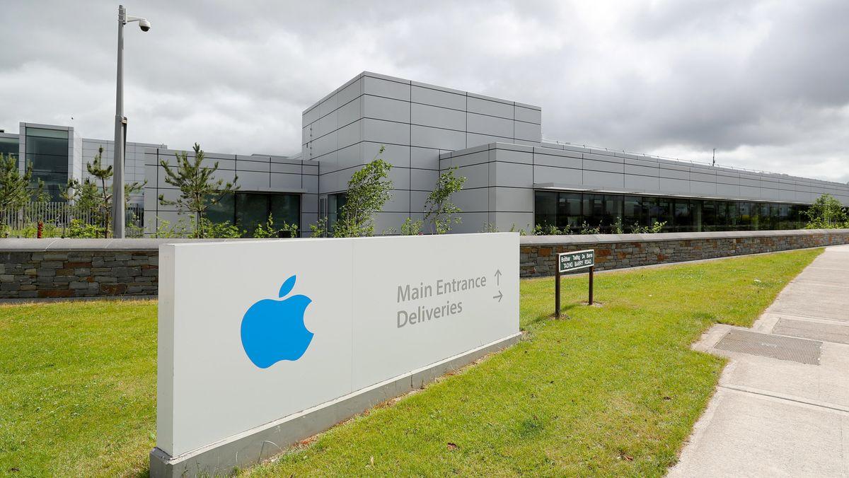 Ein Blick auf die europäische Zentrale des Technologieunternehmens Apple  in Irland