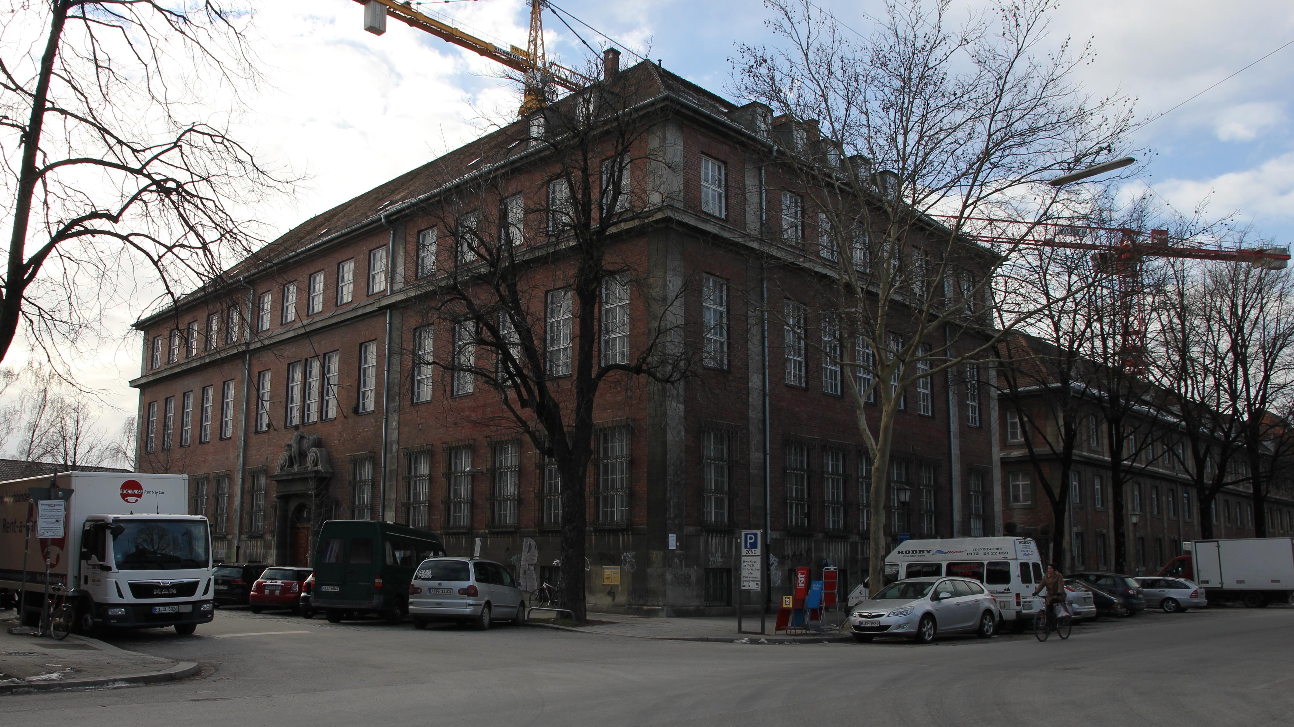 Das Gebäude der ehemaligen Viehmarkt-Bank im Münchner Schlachthofviertel