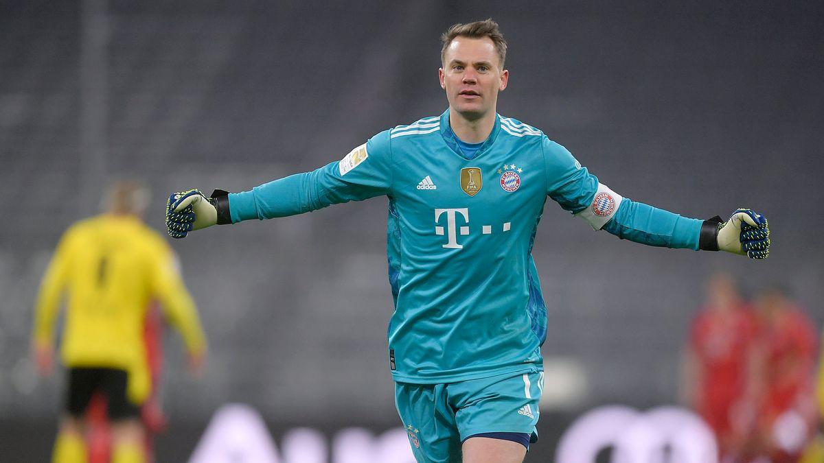 Manuel Neuer im Spiel gegen Dortmund