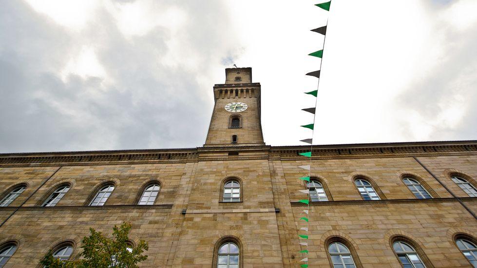 Das Fürther Rathaus mit seinem Turm.