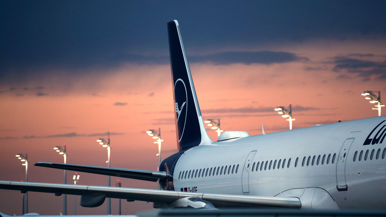 Lufthansamaschine am Flughafen München