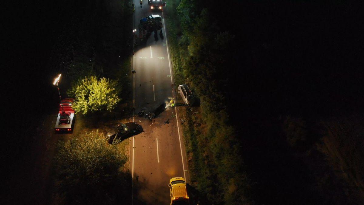 Unfall bei Rothenburg