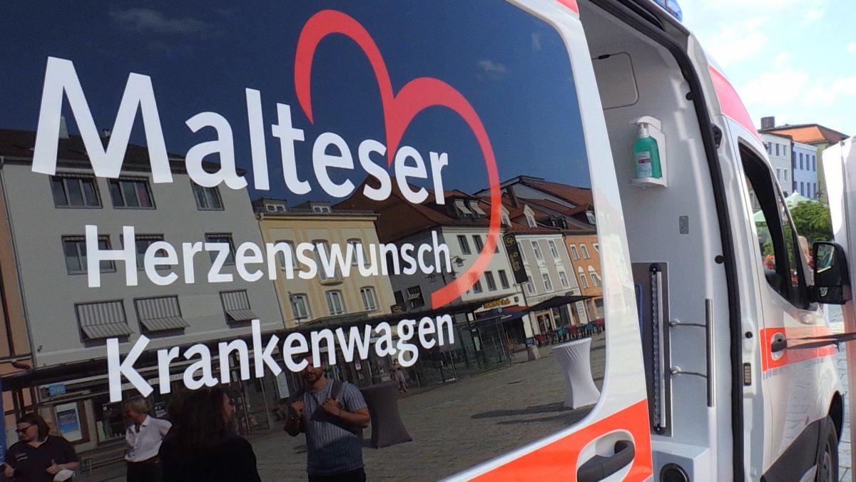 Der neue Herzenswunsch-Krankenwagen der Malteser.