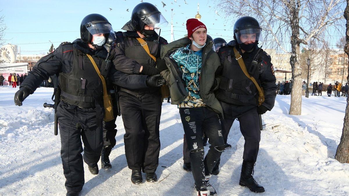 Nawalny-Proteste in Russland.