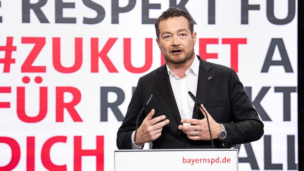 Uli Grötsch am Wochenende beim digitalen Parteitag der Bayern-SPD.