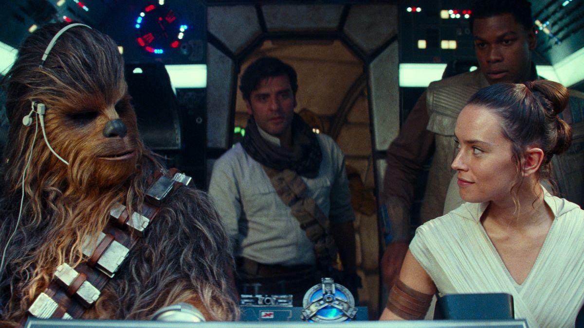 """Die neuen Helden des Star-Wars-Universums ein letztes Mal vereint in """"Star Wars: Der Aufstieg Skywalkers"""" (Filmszene)"""