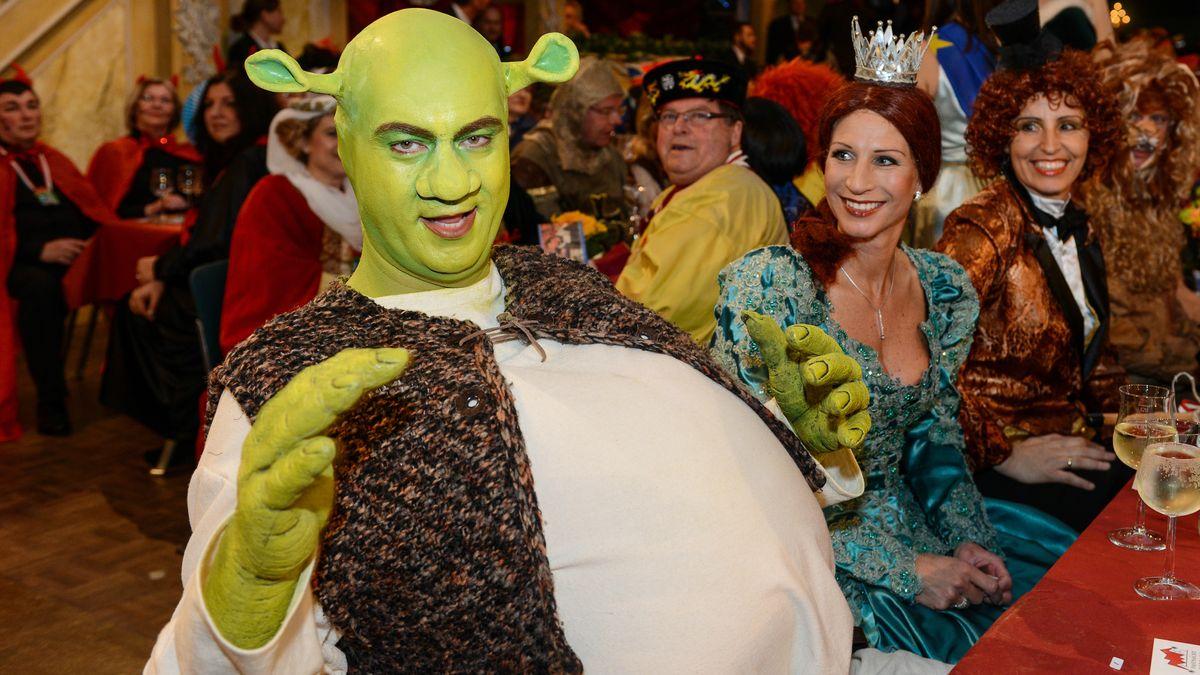 Markus Söder verkleidet als Shrek