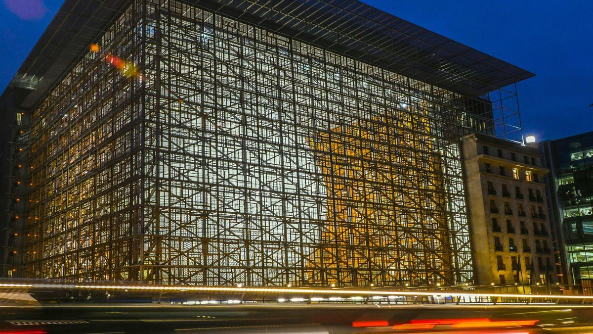 Sitz des Rates der Europäischen Union, EU-Ministerrat, Europagebäude, in Brüssel