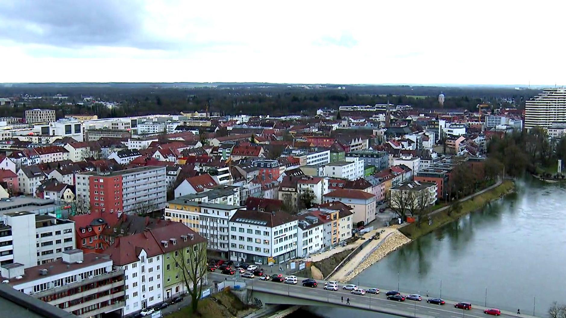 Ansicht der Stadt Neu-Ulm