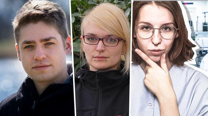 Drei junge Pflegekräfte erklären im BR-Interview, weshalb ihre Kolleginnen und Kollegen streiken.