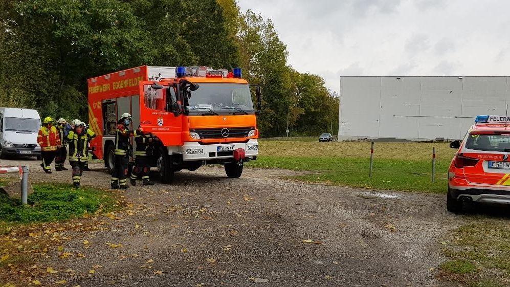 Rettungskräfte am Mertsee in Eggenfelden