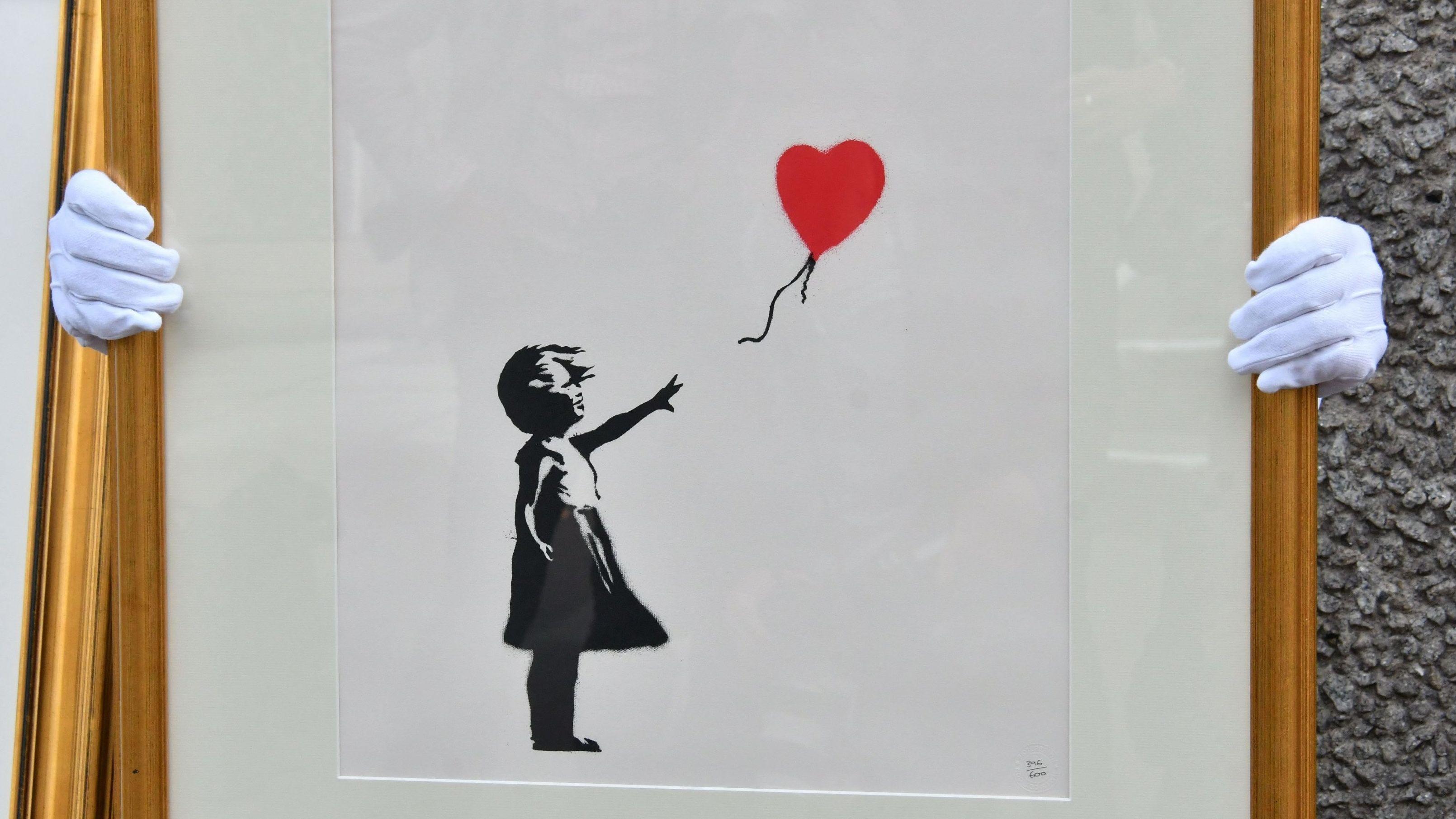 """Girl With Balloon"" von Banksy"