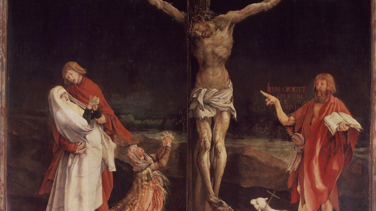 Der Isenheimer Altar zeigt den gekreuzigten Jesus