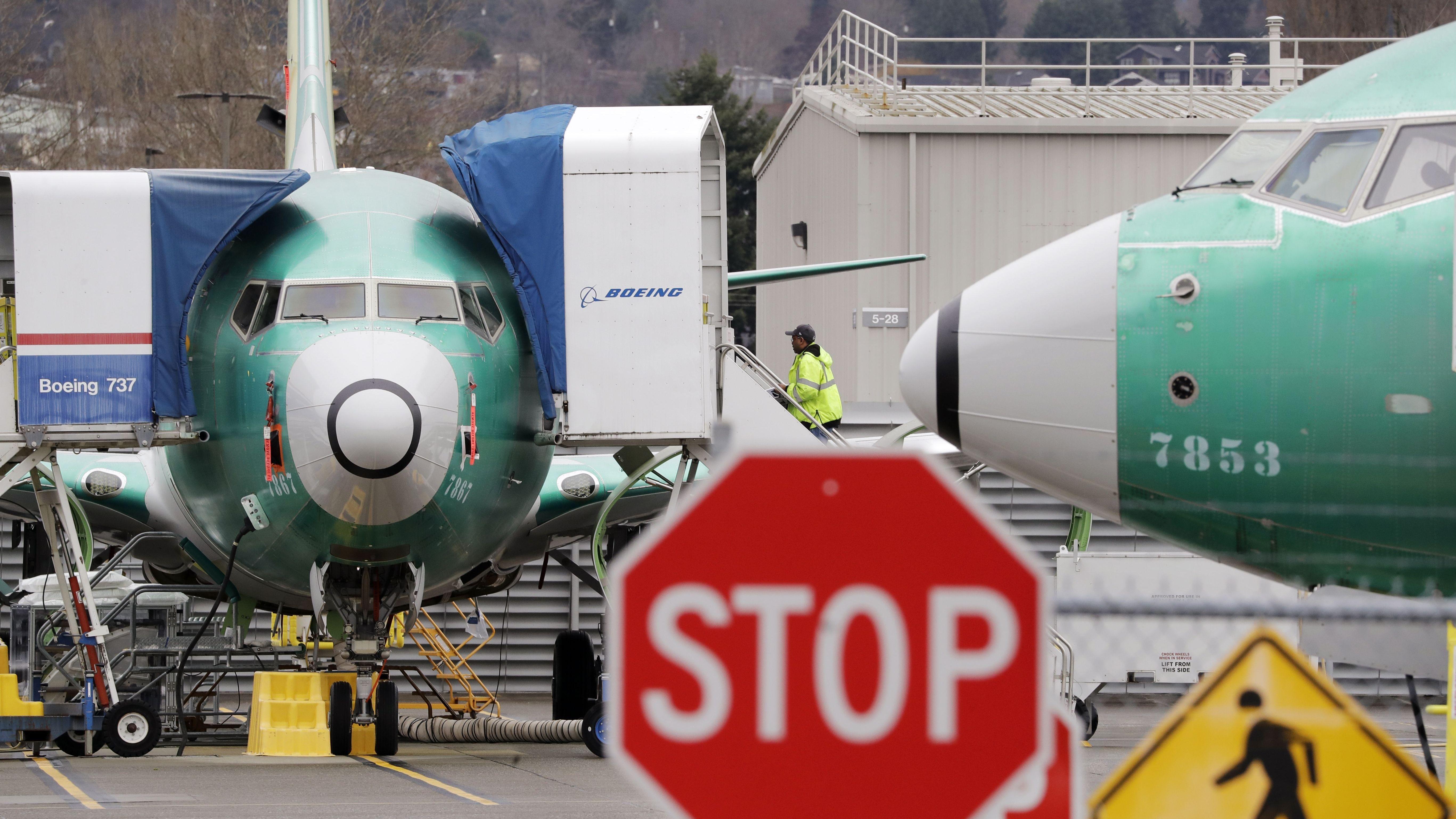 Boeing 737 max Maschinen auf dem Flughafen Renton, Washington
