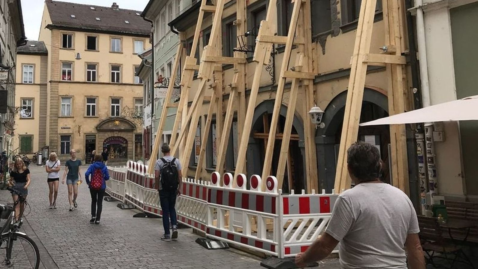 Das denkmalgeschützte Haus in Bamberg ist einsturzgefährdet