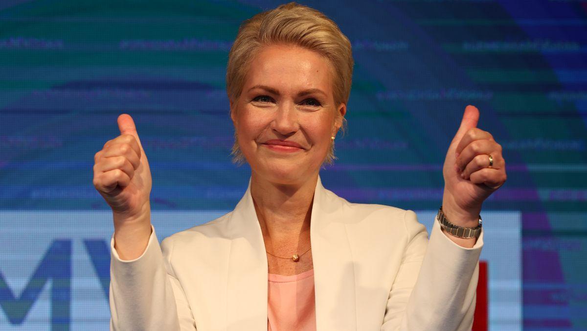 Nach der Landtagswahl in Mecklenburg-Vorpommern kann Ministerpräsidentin Manuela Schwesig weiter regieren.