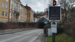 Der Josef-Deimer-Tunnel in Landshut bleibt bis auf Weiteres gesperrt | Bild:BR/Uli Scherr