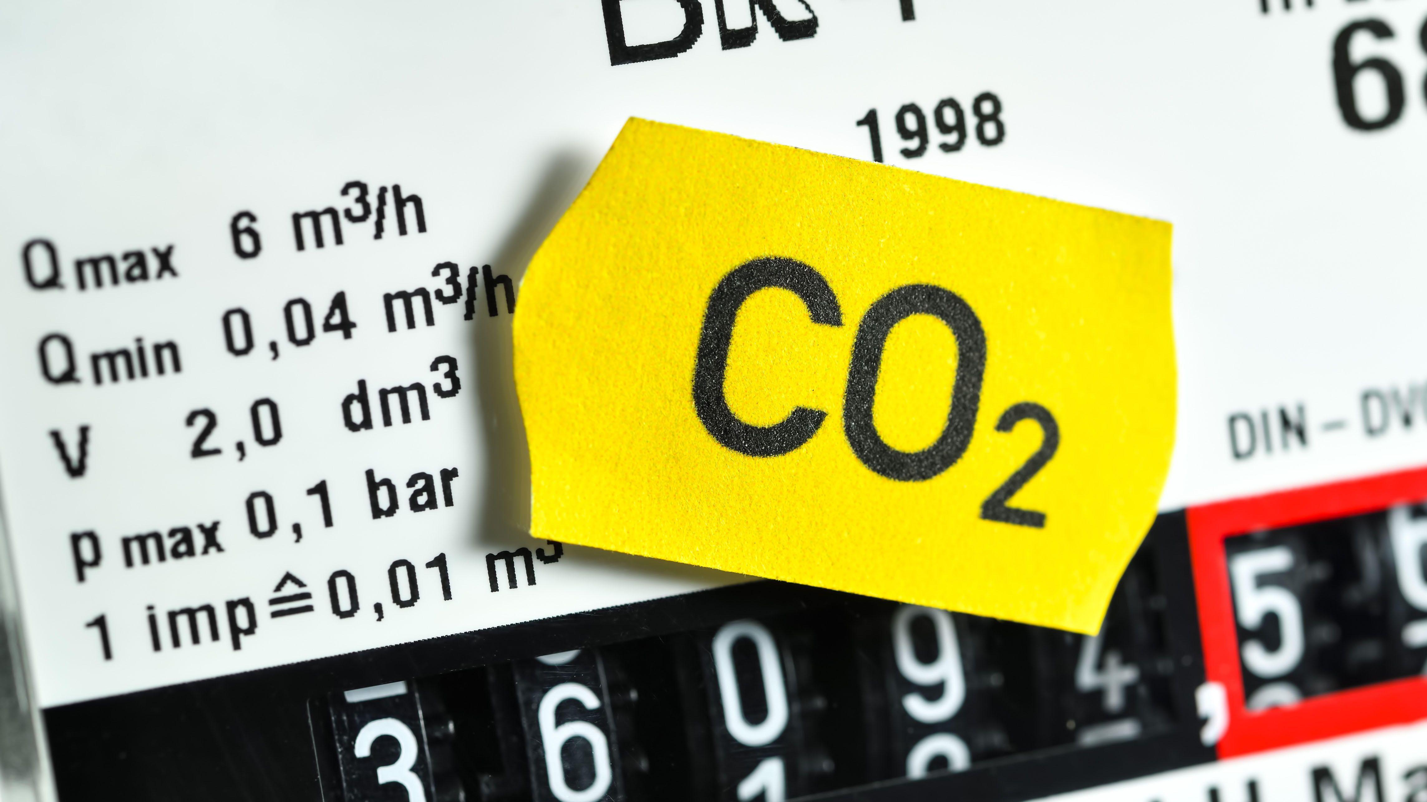 Symbolbild - Zähler mit CO2