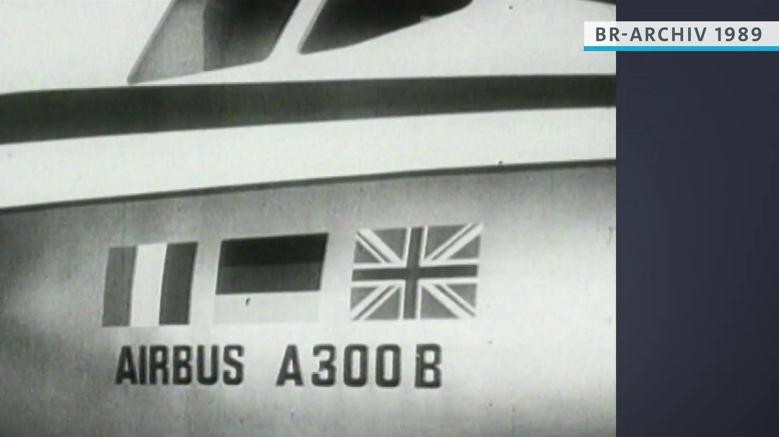 Schriftzug Airbus A 300 B