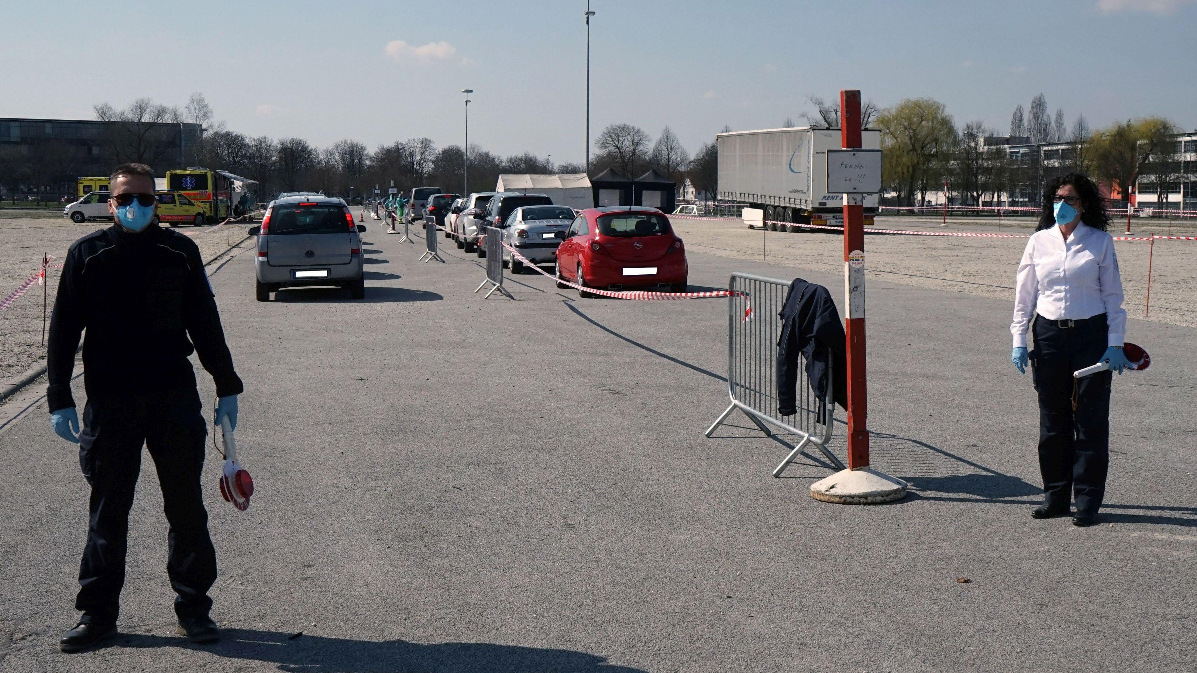 Corona-Teststation in Landshut