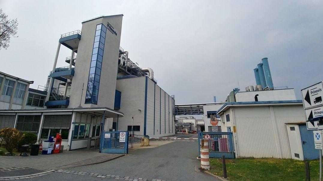 Die Druckerei Prinovis von außen. Sie drucken Kataloge für Ikea sowie das ADAC-Magazin. Im April 2021 schließt die Bertelsmann-Tochter die Druckerei in Nürnberg und mehr als 900 Jobs werden dadurch verloren gehen.