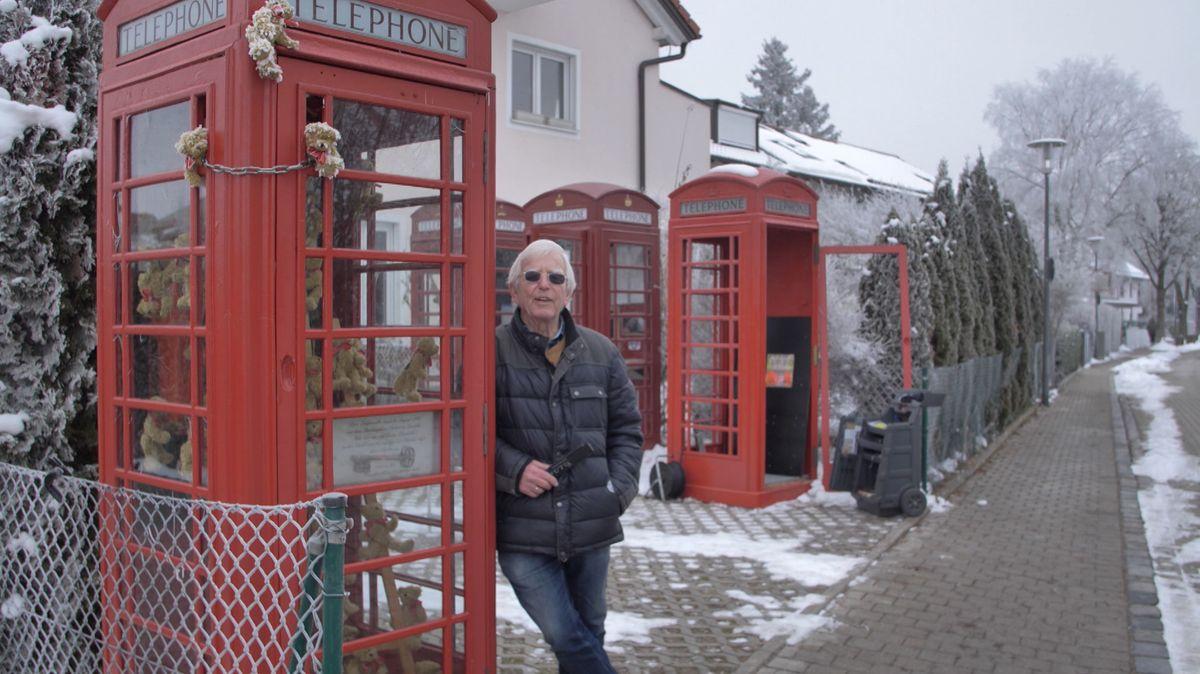 Christian Klages erste Telefonzelle war rot, made in Great Britain und er erstand sie auf Sylt.
