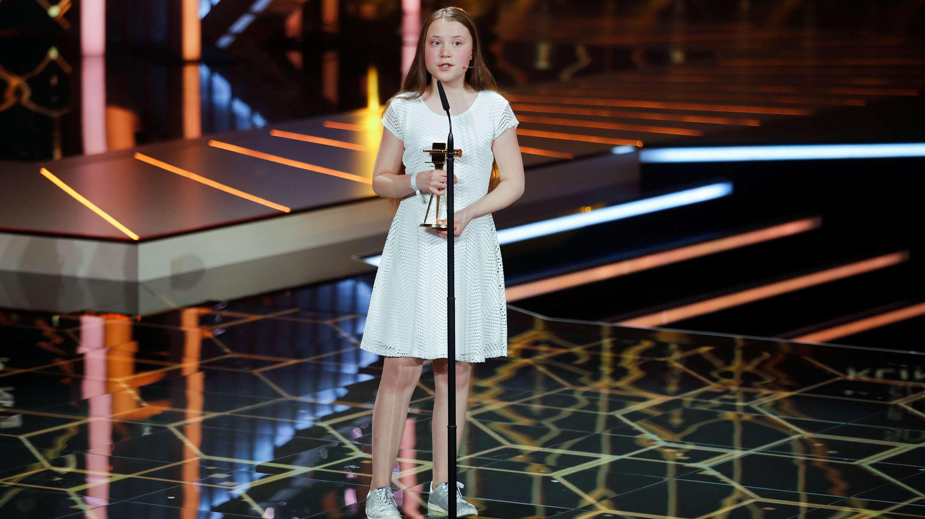 Greta Thunberg bei der Preisverleihung der Goldenen Kamera