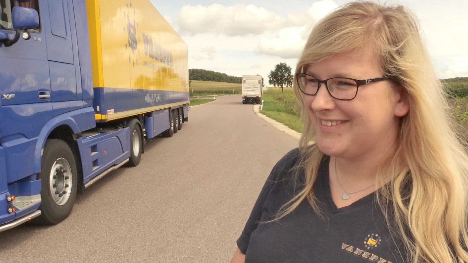 LKW-Fahrerin Sarah Klepsch