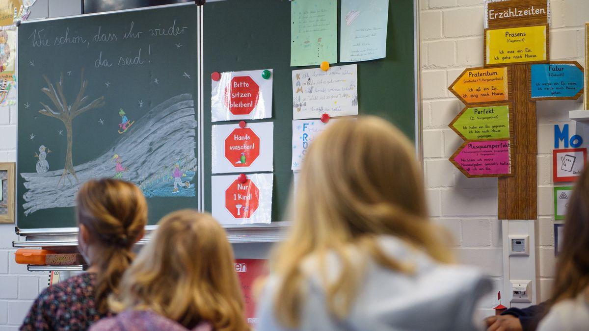 Schüler einer Grundschulklasse