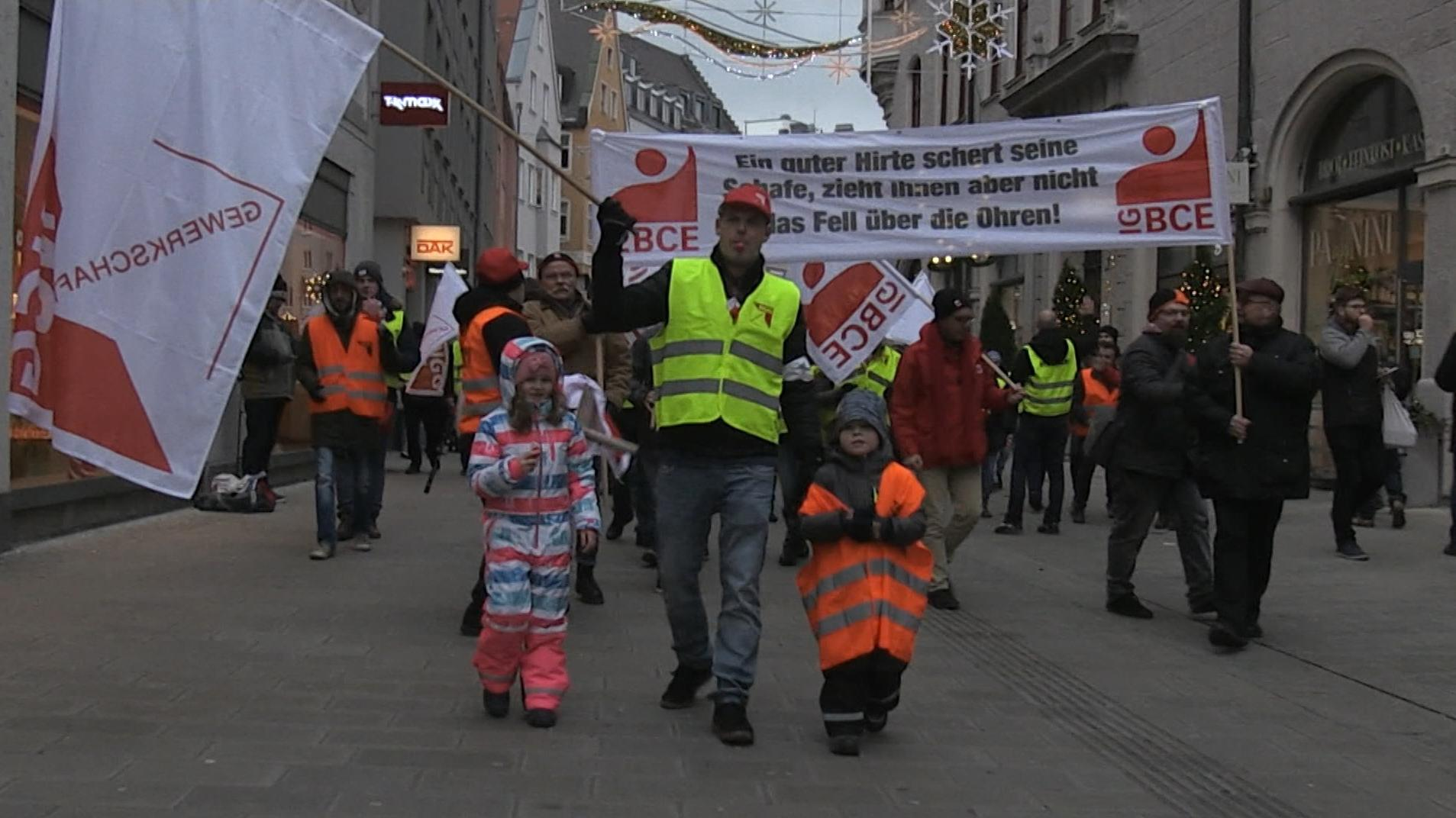Demonstration in der Augsburg Innenstadt
