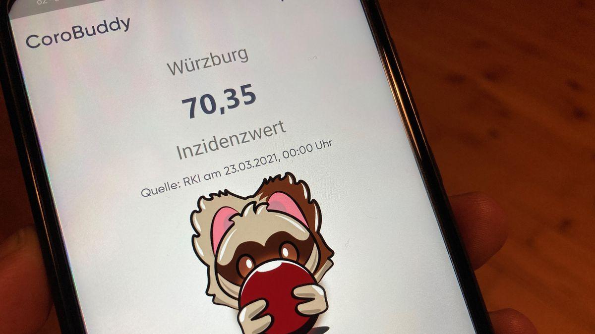 """Startbildschirm der App """"CoroBuddy"""""""