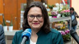 SPD-Chefin Andrea Nahles | Bild:dpa Bildfunk/Daniel Karmann