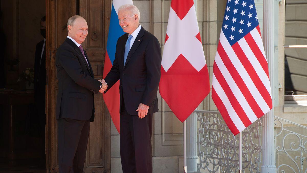 Russlands Präsident Wladimir Putin und US-Präsident Joe Biden in Genf.
