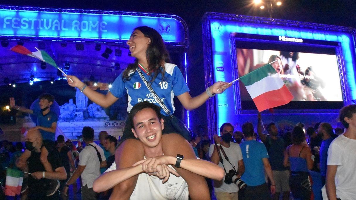 Italiener feiern den EM-Sieg in Rom